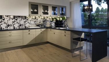 Traditional kitchen Grandidier Windsor Kieselgrau